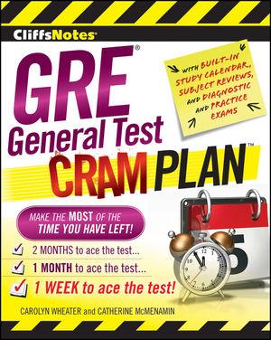 CliffsNotes GRE General Test Cram Plan (0470465913) cover image