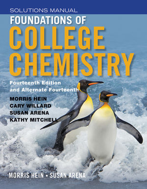 Student Solutions Manual to accompany Foundations of College Chemistry, 14e & Alt 14e (1118289013) cover image