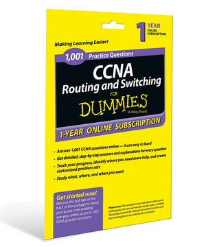1,001 CCNA Routing and Switching Practice Questions For Dummies, Access Code Card (1-Year Subscription)