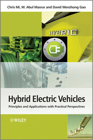 Hybrid Electric Vehicles: Principles and Applications with Practical Perspectives (1119970113) cover image