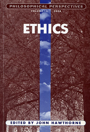 Ethics, Volume 18