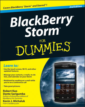 BlackBerry Storm For Dummies, 2nd Edition (0470565314) cover image