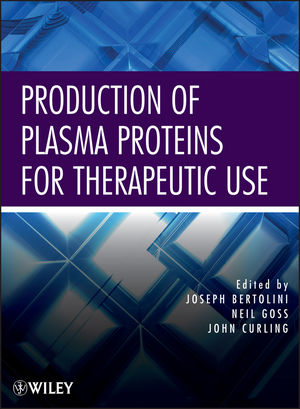 Production of Plasma Proteins for Therapeutic Use (0470924314) cover image
