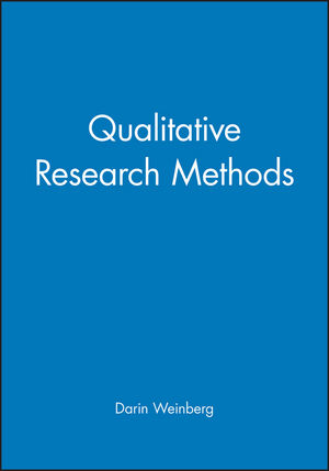 Qualitative Research Methods (0631217614) cover image