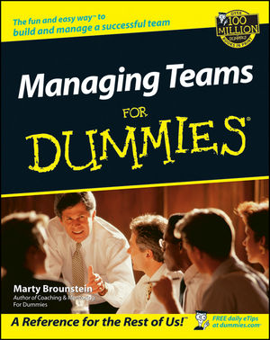 Managing Teams For Dummies (1118069714) cover image
