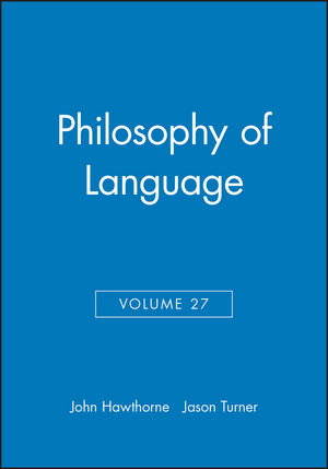 Philosophy of Language, Volume 27