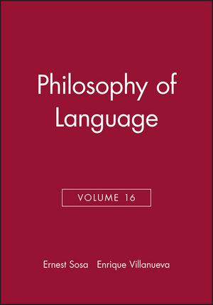 Philosophy of Language, Volume 16