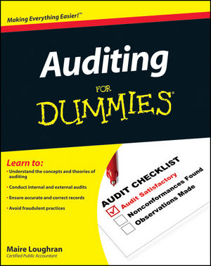 Auditing For Dummies (0470530715) cover image