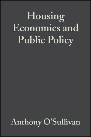 Housing Economics and Public Policy (0470680415) cover image