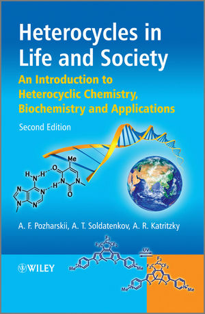 Heterocycles in Life and Society: An Introduction to Heterocyclic Chemistry, Biochemistry and Applications, 2nd Edition (0470714115) cover image