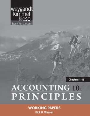 Working Papers Chapters 1-18 to accompany Accounting Principles, 10th Edition (0470887915) cover image