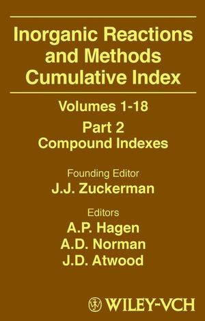 Inorganic Reactions and Methods, Volumes 1 - 18, Cumulative Index, Part 2: Compound Indexes