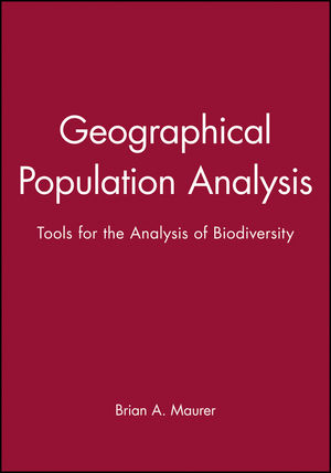 Geographical Population Analysis: Tools for the Analysis of Biodiversity