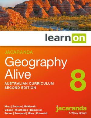 Jacaranda Geography Alive 8 Australian Curriculum 2e learnON (Codes Emailed)