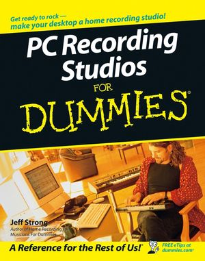 PC Recording Studios For Dummies (1118085515) cover image