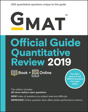 GMAT Official Guide Quantitative Review 2019: Book + Online