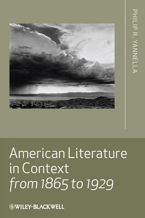 American Literature in Context from 1865 to 1929 (1405167815) cover image