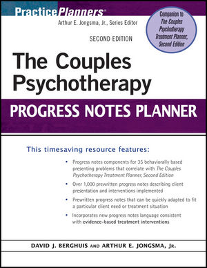 The Couples Psychotherapy Progress Notes Planner, 2nd Edition (0470936916) cover image