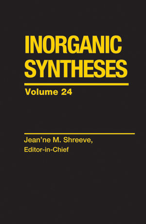 Inorganic Syntheses, Volume 24 (0471834416) cover image
