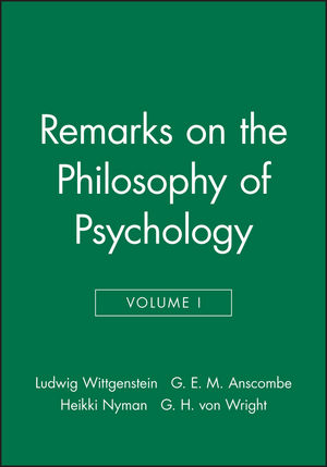 Remarks on the Philosophy of Psychology, Volume 1