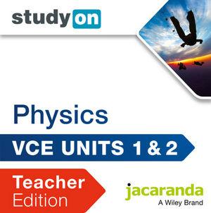 StudyOn VCE Physics Unit 1 & 2 Teacher Edition (Online Purchase)