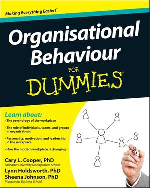 Organisational Behaviour For Dummies (1119977916) cover image