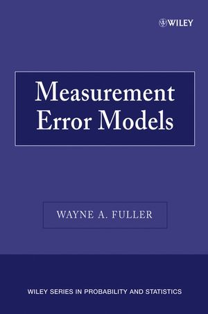 Measurement Error Models (0470095717) cover image
