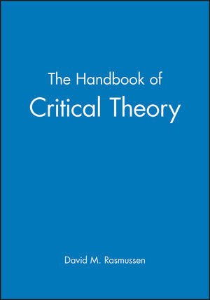 The Handbook of Critical Theory (0631183817) cover image