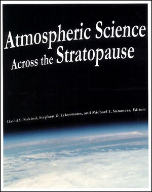 Atmospheric Science Across the Stratopause, Volume 123 (0875909817) cover image