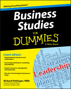 Business Studies For Dummies (1118348117) cover image
