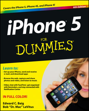 iPhone 5 For Dummies, 6th Edition (1118352017) cover image