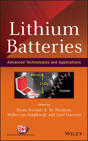 Lithium Batteries: Advanced Technologies and Applications (1118615417) cover image
