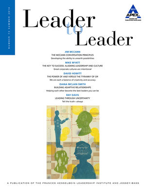 Leader to Leader (LTL), Volume 73, Summer 2014