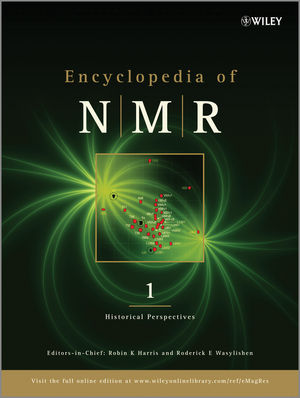 Encyclopedia of NMR, 10 Volume Set