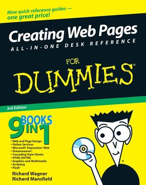Creating Web Pages All-in-One Desk Reference For Dummies, 3rd Edition (0470184418) cover image