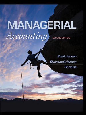 Managerial Accounting, 2nd Edition (1118572718) cover image