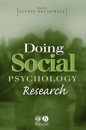 Doing Social Psychology Research (1405108118) cover image