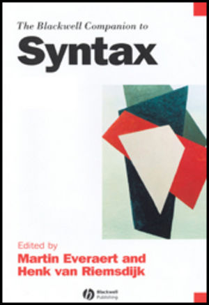 The Blackwell Companion to Syntax (1405178418) cover image