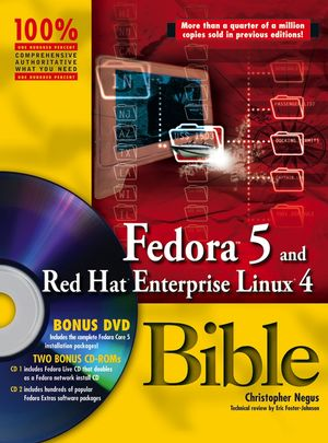 Fedora 5 and Red Hat Enterprise Linux 4 Bible (0471754919) cover image
