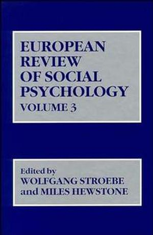 European Review of Social Psychology, Volume 3