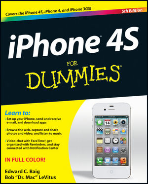 iPhone 4S For Dummies®, 5th Edition (1118036719) cover image