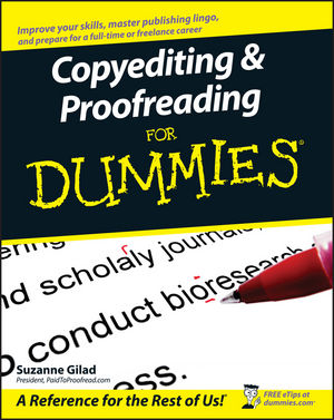 Copyediting and Proofreading For Dummies (1118051319) cover image