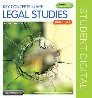 Key Concepts in VCE Legal Studies Units 3 & 4 eBookPLUS 2E eBookPLUS (Online Purchase)