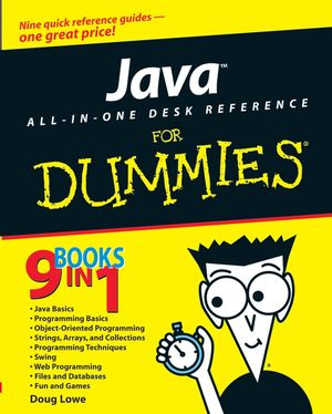 Java All-In-One Desk Reference For Dummies (076458961X) cover image