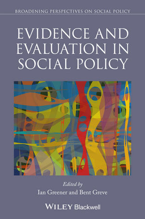 Evidence and Evaluation in Social Policy (111881651X) cover image