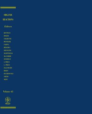 Organic Reactions, Volume 63 (0471445320) cover image