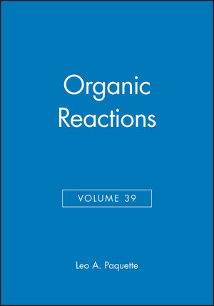 Organic Reactions, Volume 39