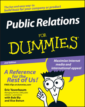 Public Relations For Dummies, 2nd Edition (0471772720) cover image