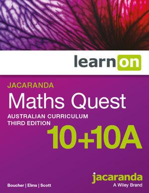 Jacaranda Maths Quest 10+10A Australian Curriculum 3e learnON (Online Purchase)