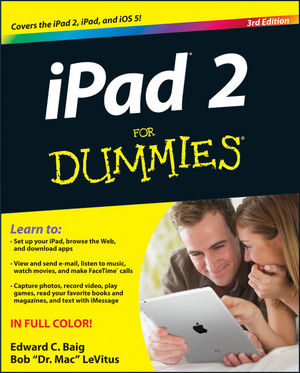 iPad 2 For Dummies, 3rd Edition (1118219120) cover image